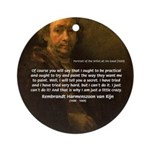 Renbrandt Self Portrait & Quote Ornament (Round)