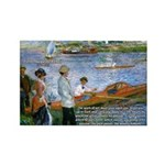Renoir Painting: Art & Beauty Rectangle Magnet