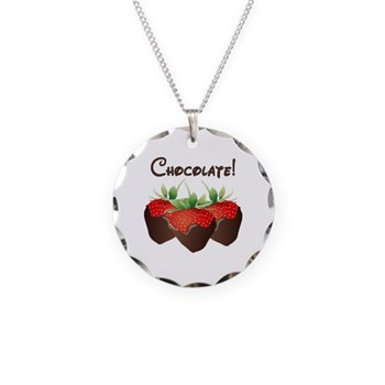 Chocolate Lovers Necklace Circle Charm