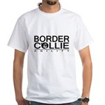 Border Collie Agility White T-Shirt