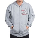 Hope Believe Diabetes Zip Hoodie