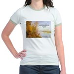 Alfred Sisley Nature Quote Jr. Ringer T-Shirt