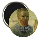Vincent Van Gogh Quote Magnet