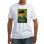 Artist Van Gogh: Suffering Fitted T-Shirt