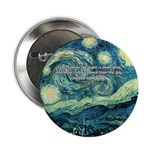 "Starry Night Vincent Van Gogh 2.25"" Button (10 pac"