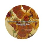Van Gogh Painting & Quote Ornament (Round)