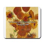 Van Gogh Painting & Quote Mousepad