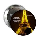 "Art Architecture Eiffel Tower 2.25"" Button (100 pa"