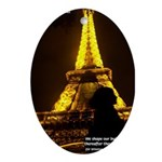 Art Architecture Eiffel Tower Oval Ornament