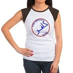 Red White Blue Pure Infidel Women's Cap Sleeve T-S