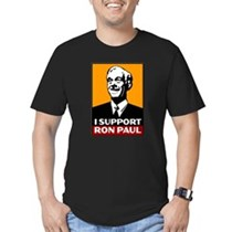 I Support Ron Paul Men's Fitted T-shirt