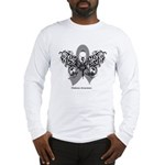 Diabetes Tribal Butterfly Long Sleeve T-Shirt