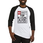 NO AMNESTY FOR ILLEGALS Baseball Jersey