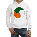 Irish Air Corps Roundel - Since 1954 - History Clothing & Gifts - White Hooded Sweatshirt Hoodie
