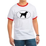 Black Lab Outline Ringer T