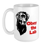 Obey the Lab Large Mug