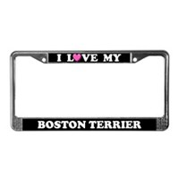 Boston Terrier License Plate Frames