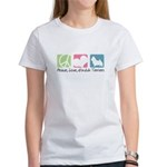 Peace, Love, Norwich Terriers Women's T-Shirt