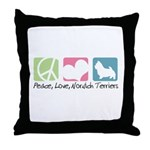 Peace, Love, Norwich Terriers Throw Pillow