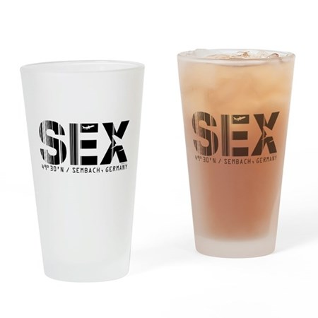 Sembach Airport Code Germany SEX Drinking Glass