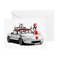Christmas MX5 Miata Cards and  ornaments