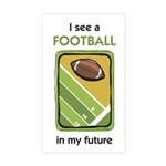 I See a Football in my Future Sticker (Rectangular