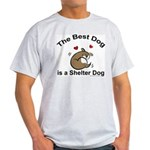 Best Shelter Dog Ash Grey T-Shirt