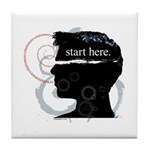 Revolutions Start Here Graphic Tile Coaster
