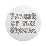 Country Father of the Groom Ornament (Round)