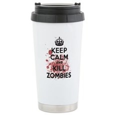 Keep Calm and Kill Zombies Ceramic Travel Mug
