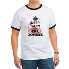 Keep Calm and Kill Zombies Ringer T