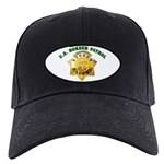 Border Patrol Badge Black Cap