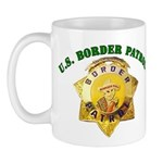 Border Patrol Badge Mug