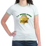 Border Patrol Badge Jr. Ringer T-Shirt