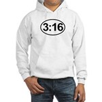 John 3:16 Christian Bible Verse Hooded Sweatshirt