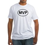 MVP Most Valuable Player Oval Fitted T-Shirt