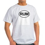 Rum Booze Alcohol Drink Oval Light T-Shirt