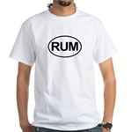 Rum Booze Alcohol Drink Oval White T-Shirt