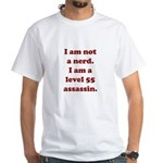 Not Nerd Assassin White T-Shirt