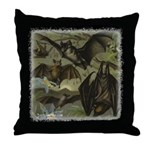 "JustVampires.com ""Bat Idyll"" Throw Pillow"