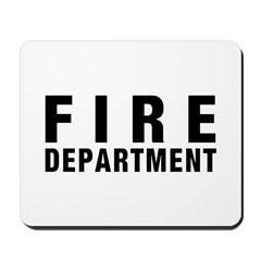 Fire Dept Black Mousepad