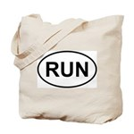 Run Runner Running Track Oval Tote Bag