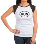 Run Runner Running Track Oval Women's Cap Sleeve T
