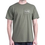 Run Runner Running Track Oval Dark T-Shirt