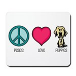 Peace Love & Labs Mousepad