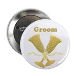 "Golden Groom 2.25"" Button (100 pack)"
