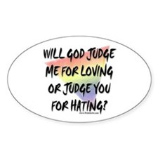 What Will God Do Oval Sticker
