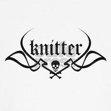 Knitter - skull pinstriping Baseball Jersey
