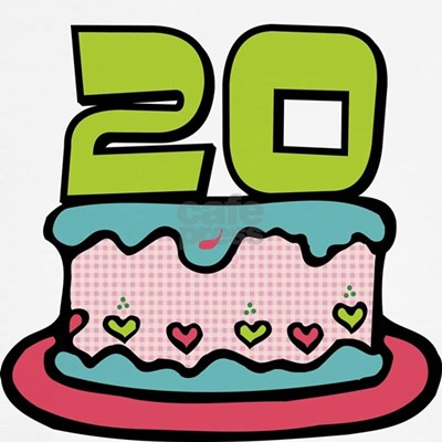 Surprising your birthday friends with our cute cartoon 20 birthday cake