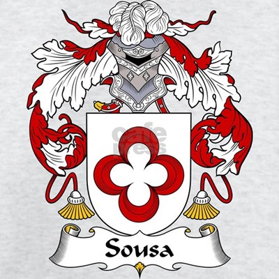 The Sousa Family Crest. Be proud of your genealogy and family name!